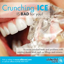 Crunching ice is BAD for you!