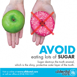 AVOID eating lots of sugar