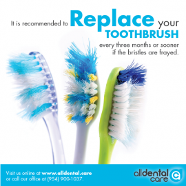 Replace your TOOTHBRUSH every three months!