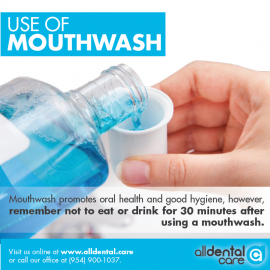 use of MOUTHWASH